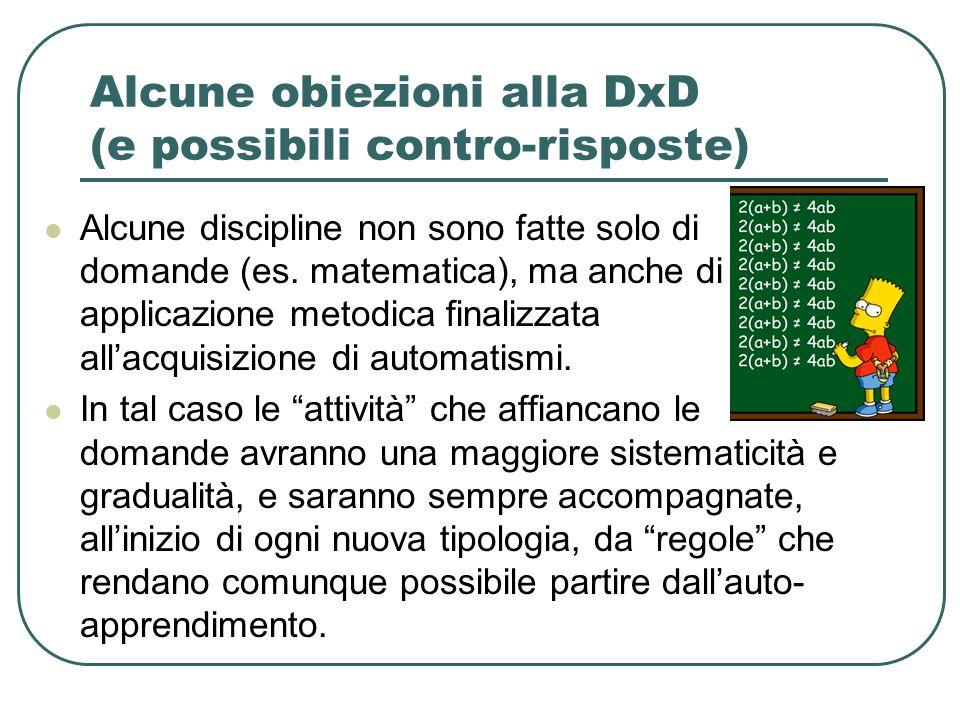 Alcune obiezioni alla DxD (e possibili contro-risposte)