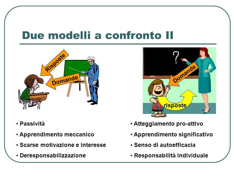 Due modelli a confronto II