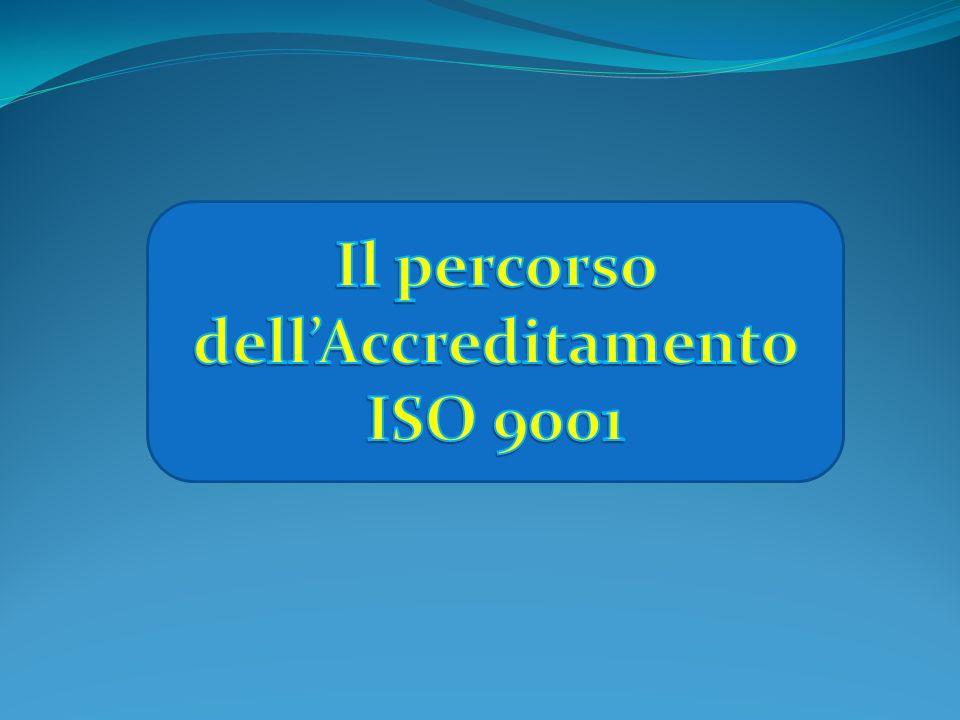 Il percorso dell'Accreditamento ISO 9001