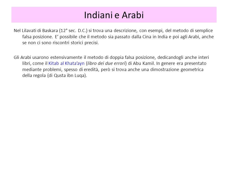 Indiani e Arabi