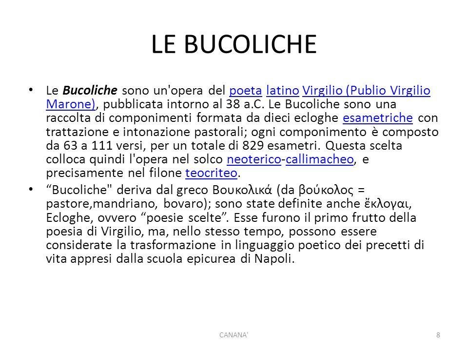 LE BUCOLICHE