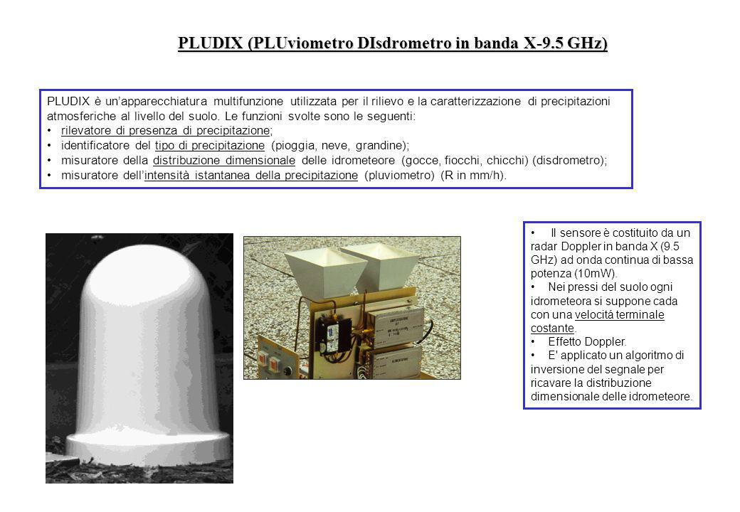 PLUDIX (PLUviometro DIsdrometro in banda X-9.5 GHz)