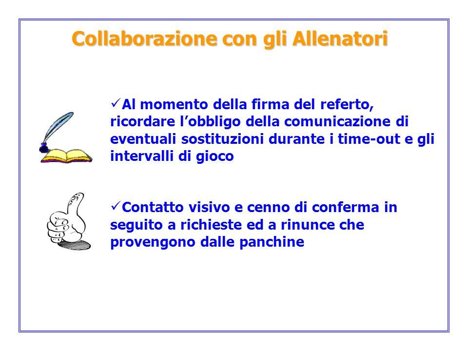 Collaborazione con gli Allenatori