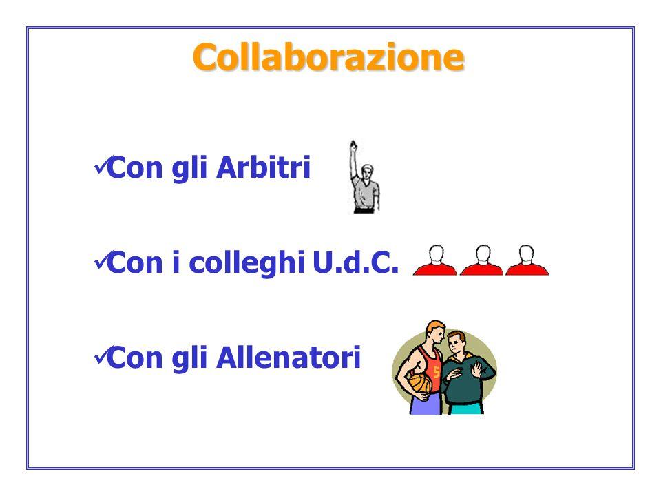 Collaborazione Con gli Arbitri Con i colleghi U.d.C.