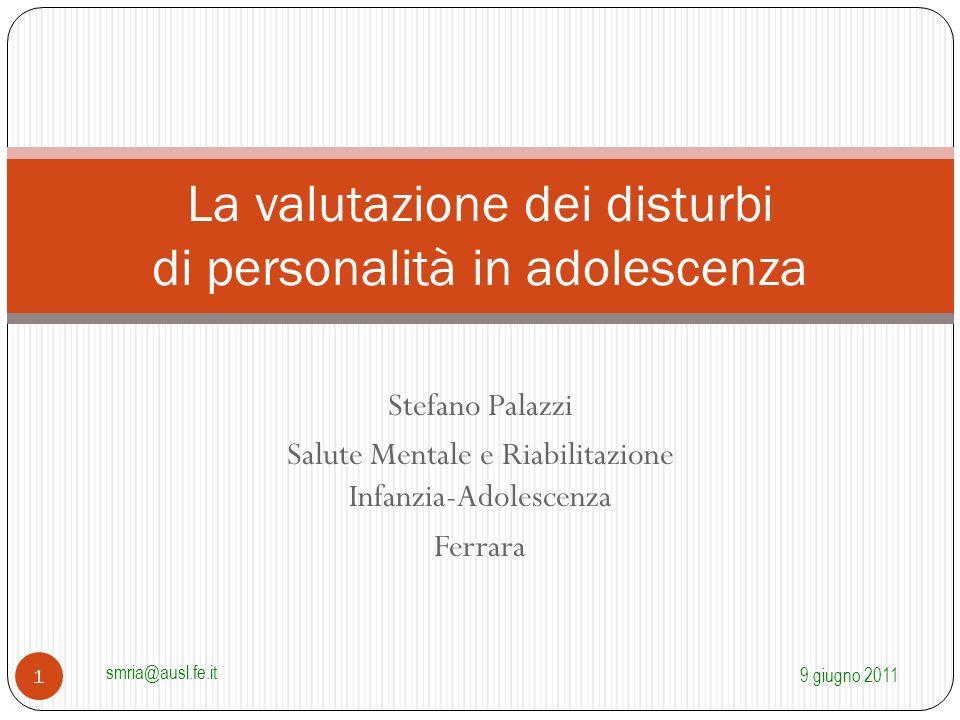 La valutazione dei disturbi di personalità in adolescenza