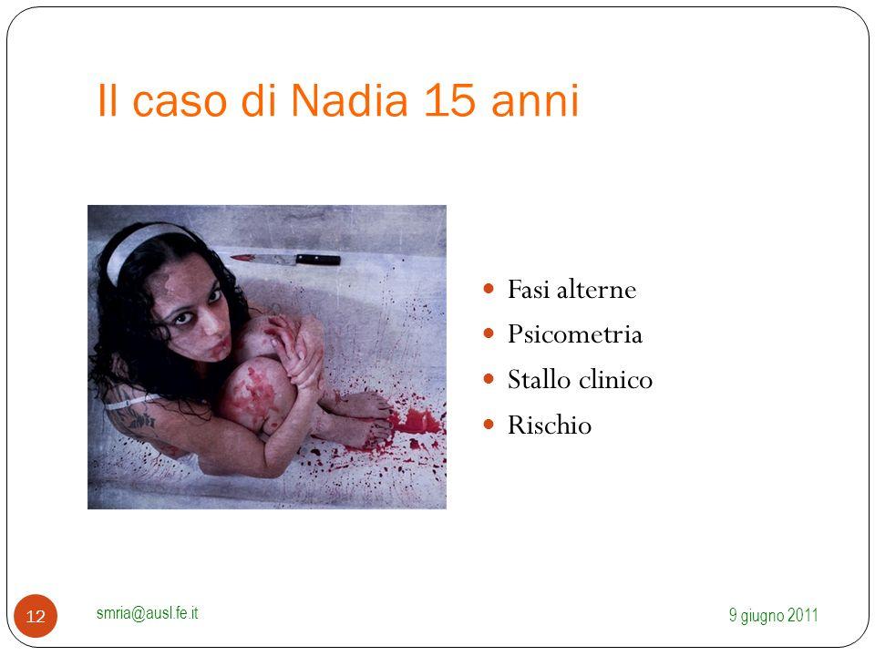 Il caso di Nadia 15 anni Fasi alterne Psicometria Stallo clinico