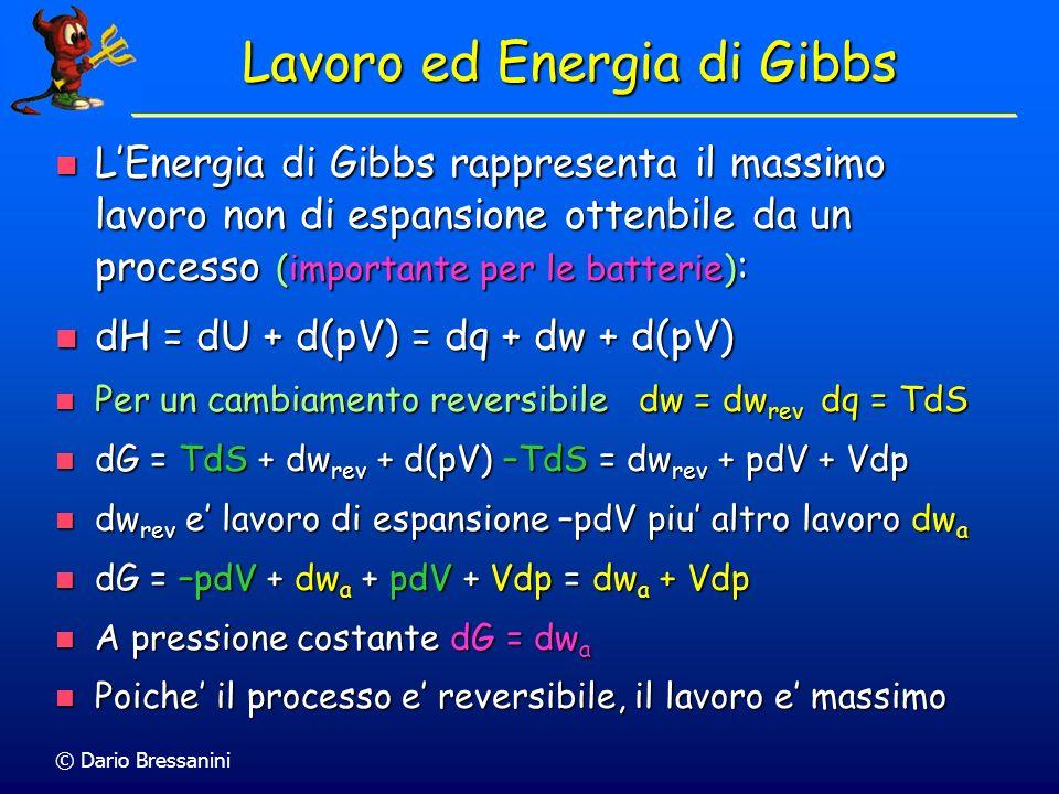 Lavoro ed Energia di Gibbs
