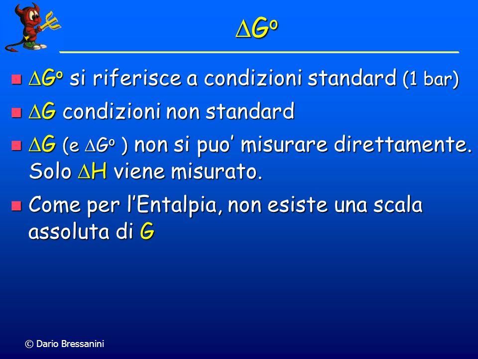 DGo DGo si riferisce a condizioni standard (1 bar)
