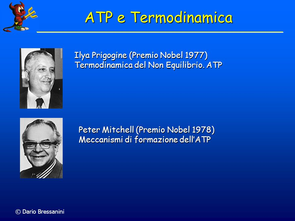 ATP e Termodinamica Ilya Prigogine (Premio Nobel 1977)