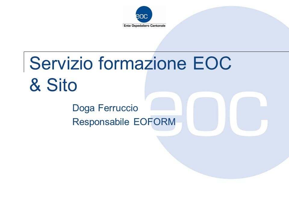 Servizio formazione EOC & Sito