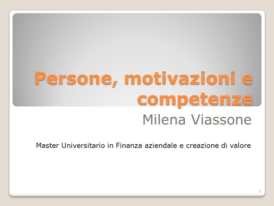 Persone, motivazioni e competenze