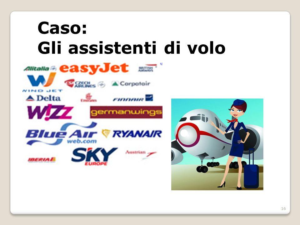 Caso: Gli assistenti di volo