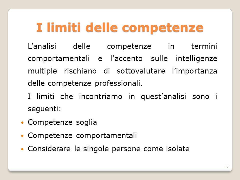 I limiti delle competenze