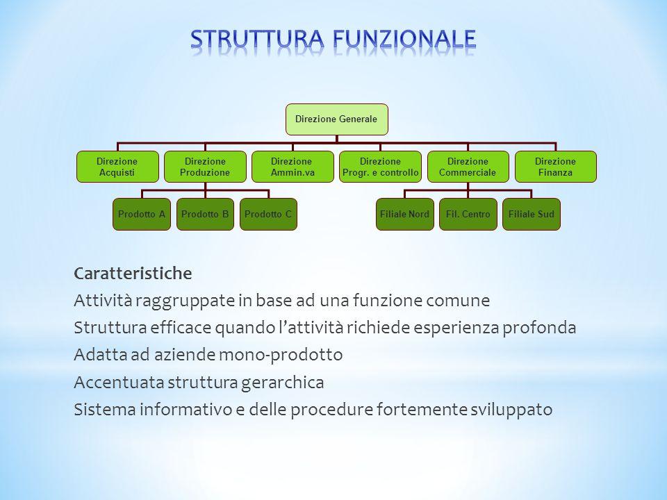 STRUTTURA FUNZIONALE Caratteristiche