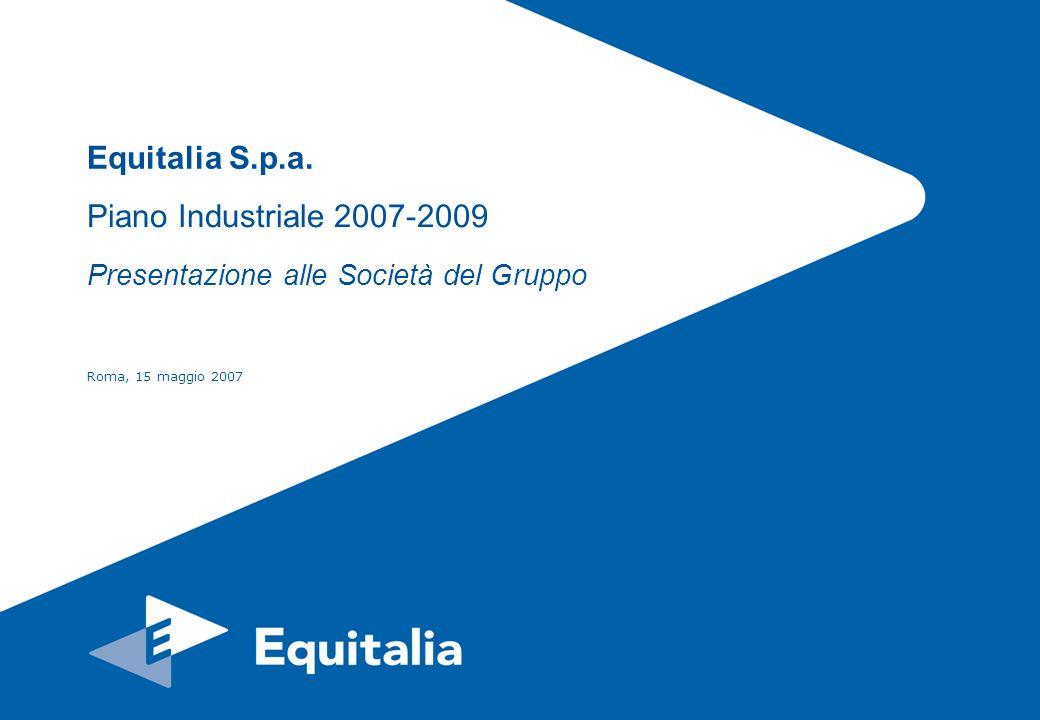 Piano Industriale 2007-2009 Presentazione alle Società del Gruppo