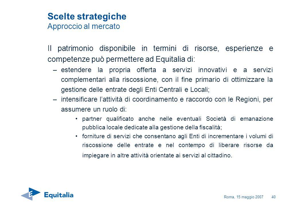 Scelte strategiche Approccio al mercato