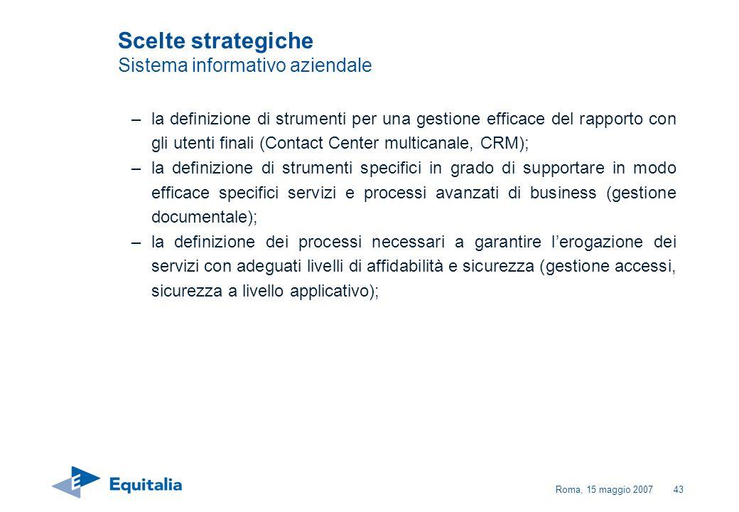 Scelte strategiche Sistema informativo aziendale