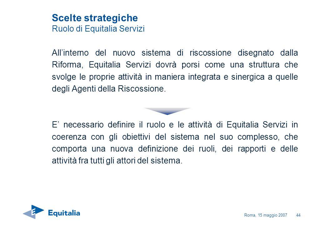 Scelte strategiche Ruolo di Equitalia Servizi