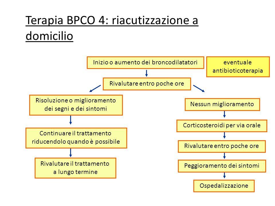 Terapia BPCO 4: riacutizzazione a domicilio
