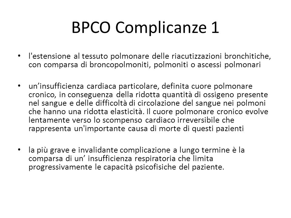 BPCO Complicanze 1