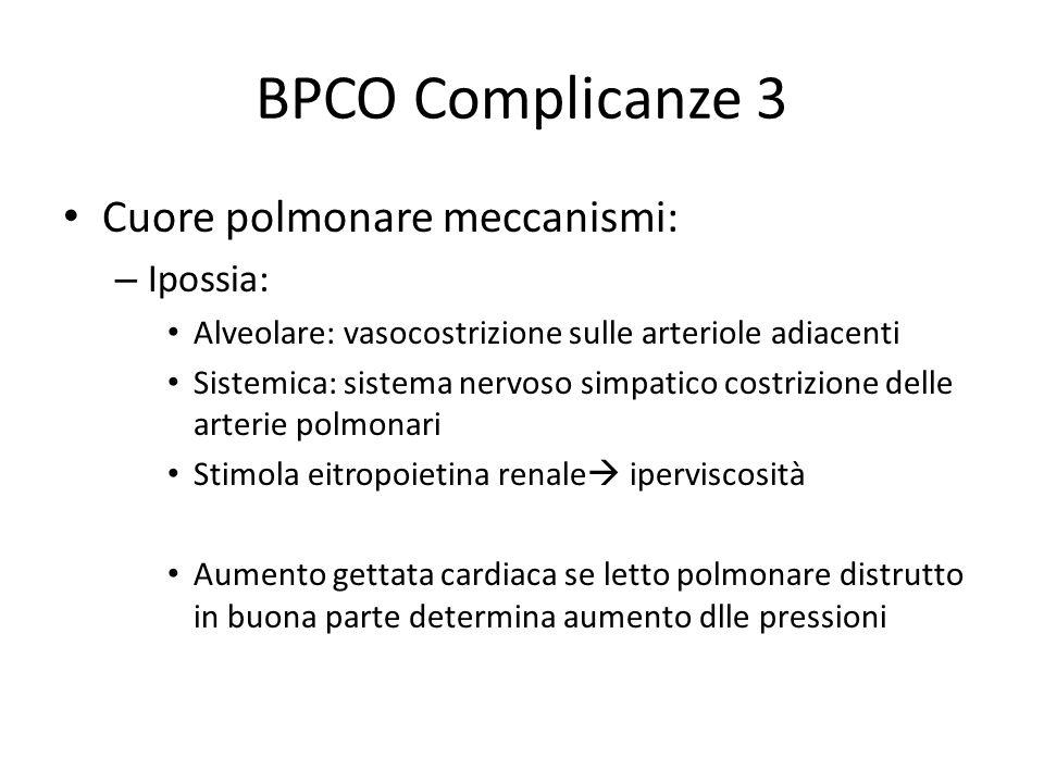BPCO Complicanze 3 Cuore polmonare meccanismi: Ipossia: