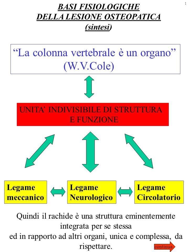 DELLA LESIONE OSTEOPATICA