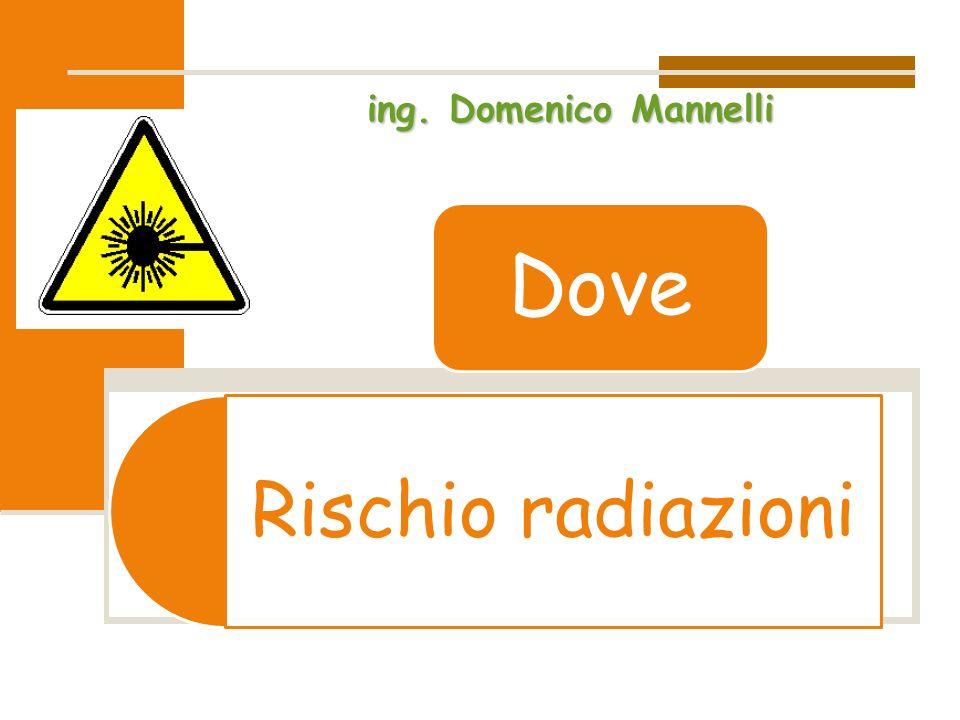 ing. Domenico Mannelli Dove Rischio radiazioni