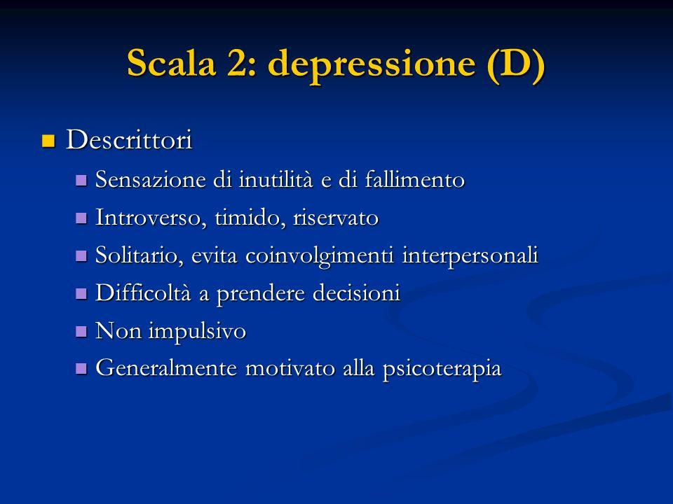 Scala 2: depressione (D)