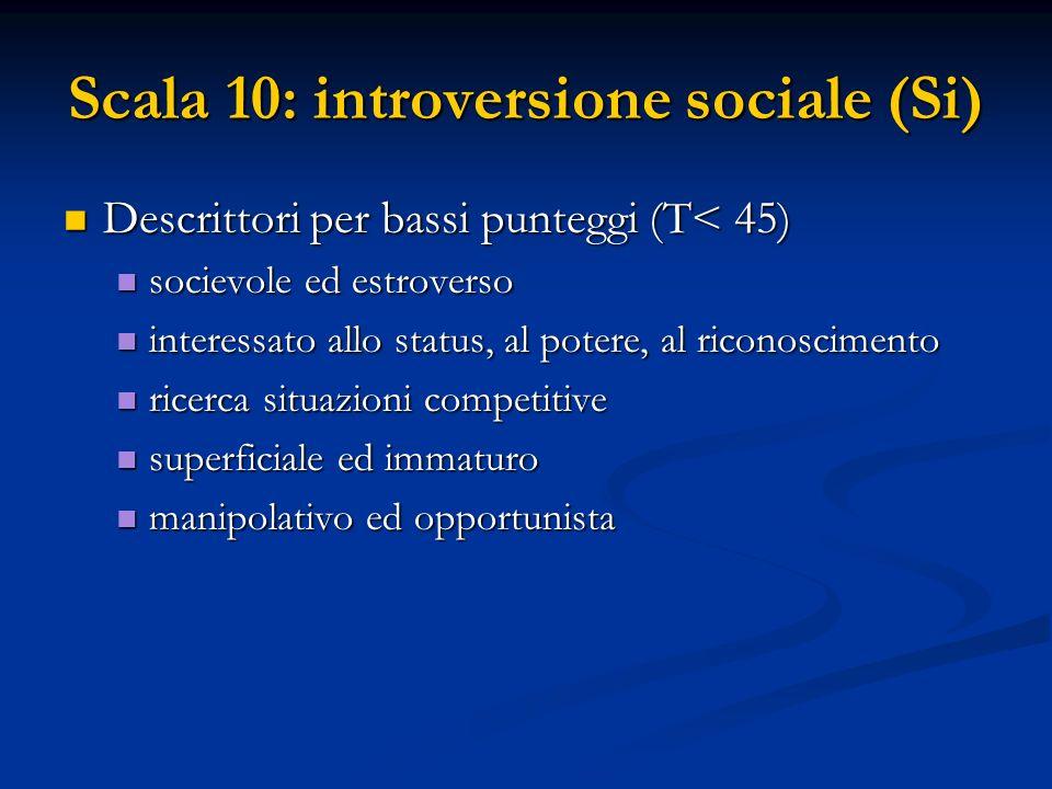 Scala 10: introversione sociale (Si)