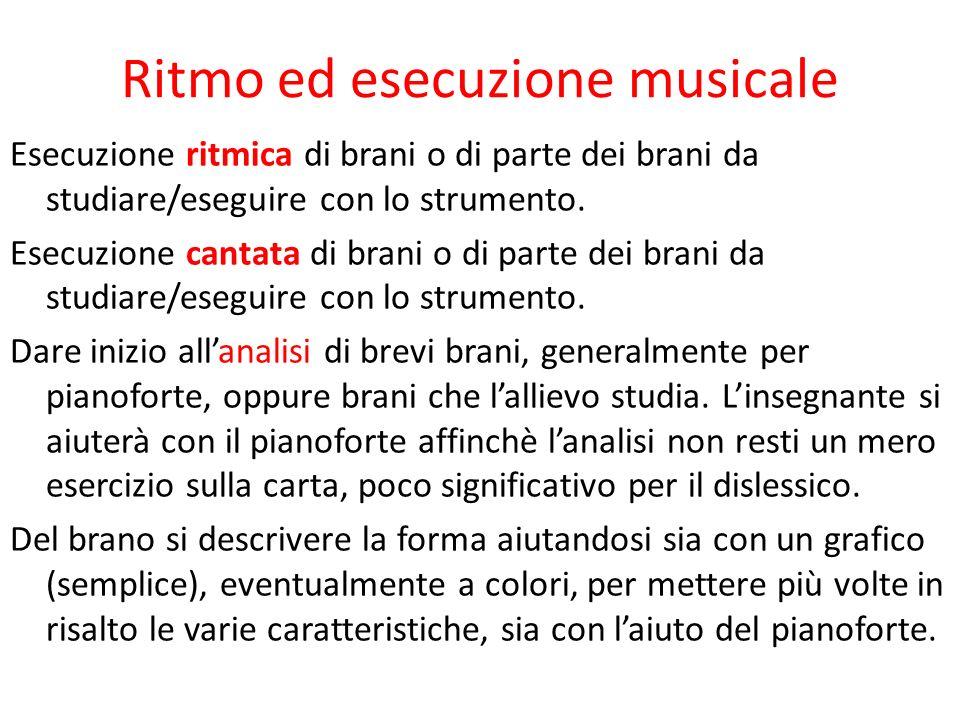 Ritmo ed esecuzione musicale