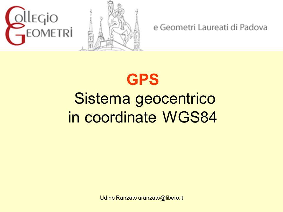 GPS Sistema geocentrico in coordinate WGS84