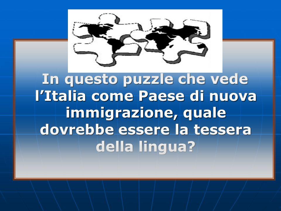 In questo puzzle che vede l'Italia come Paese di nuova immigrazione, quale dovrebbe essere la tessera della lingua