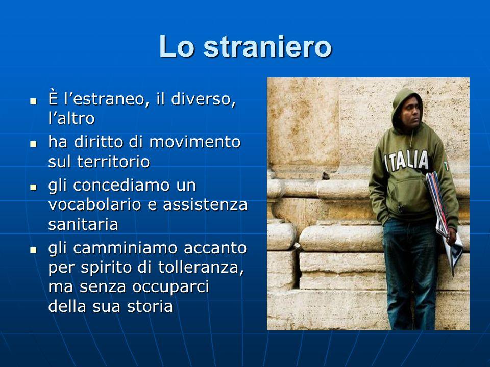 Lo straniero È l'estraneo, il diverso, l'altro