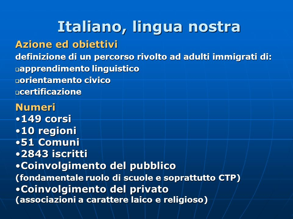 Italiano, lingua nostra