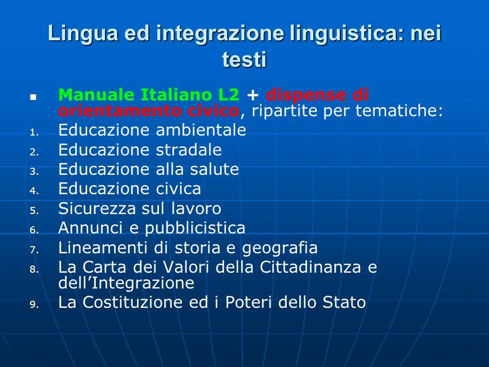Lingua ed integrazione linguistica: nei testi