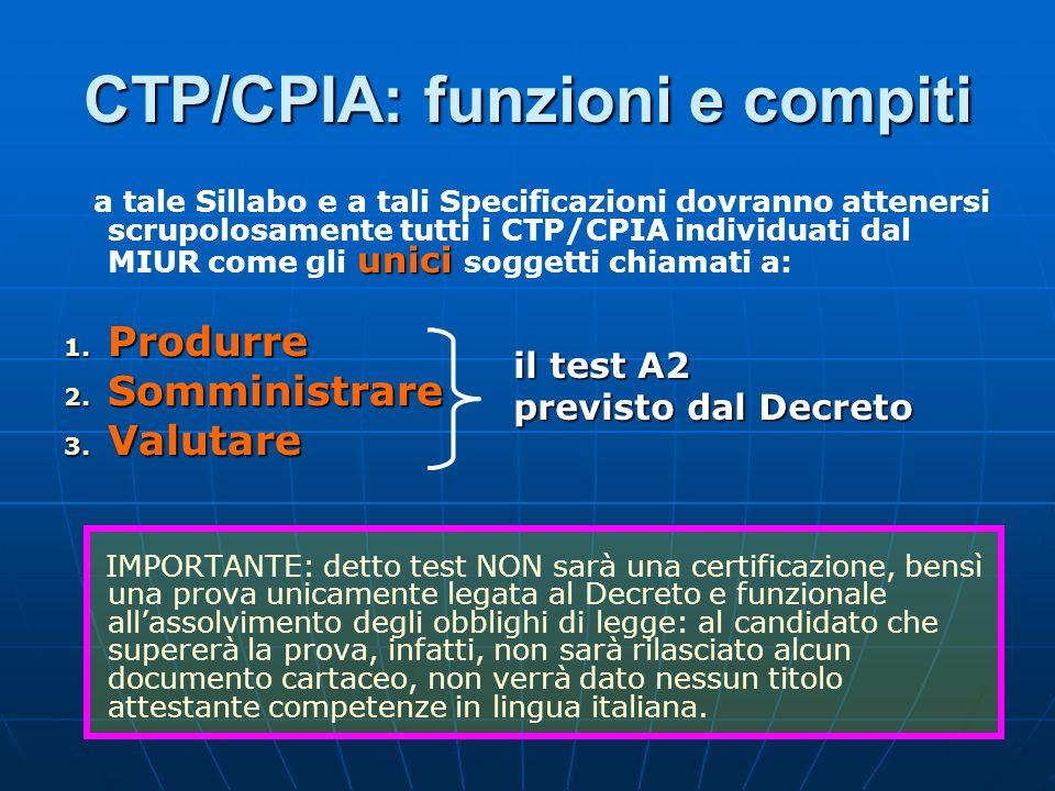 CTP/CPIA: funzioni e compiti