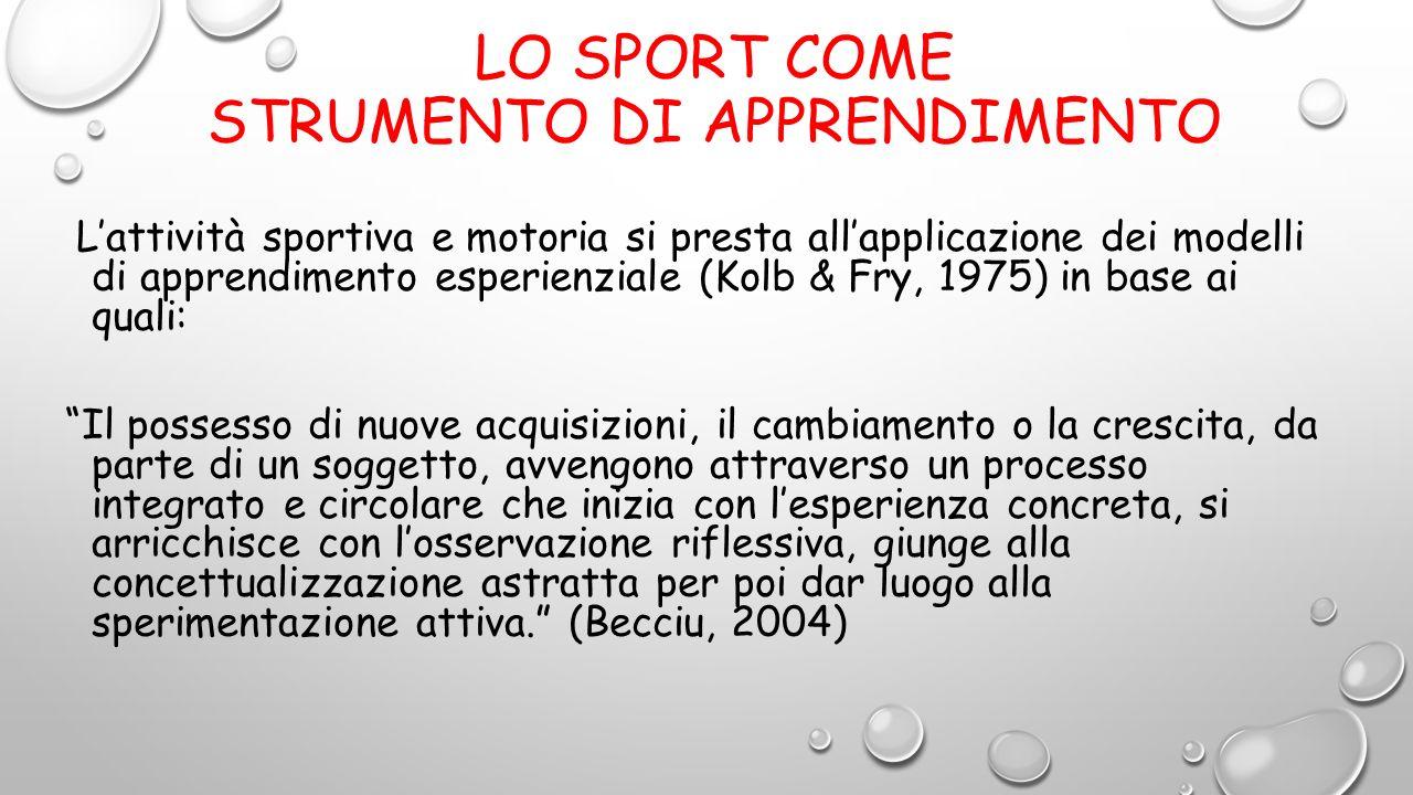 Lo sport come strumento di apprendimento