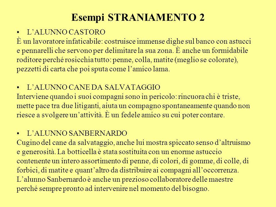 Esempi STRANIAMENTO 2 L'ALUNNO CASTORO