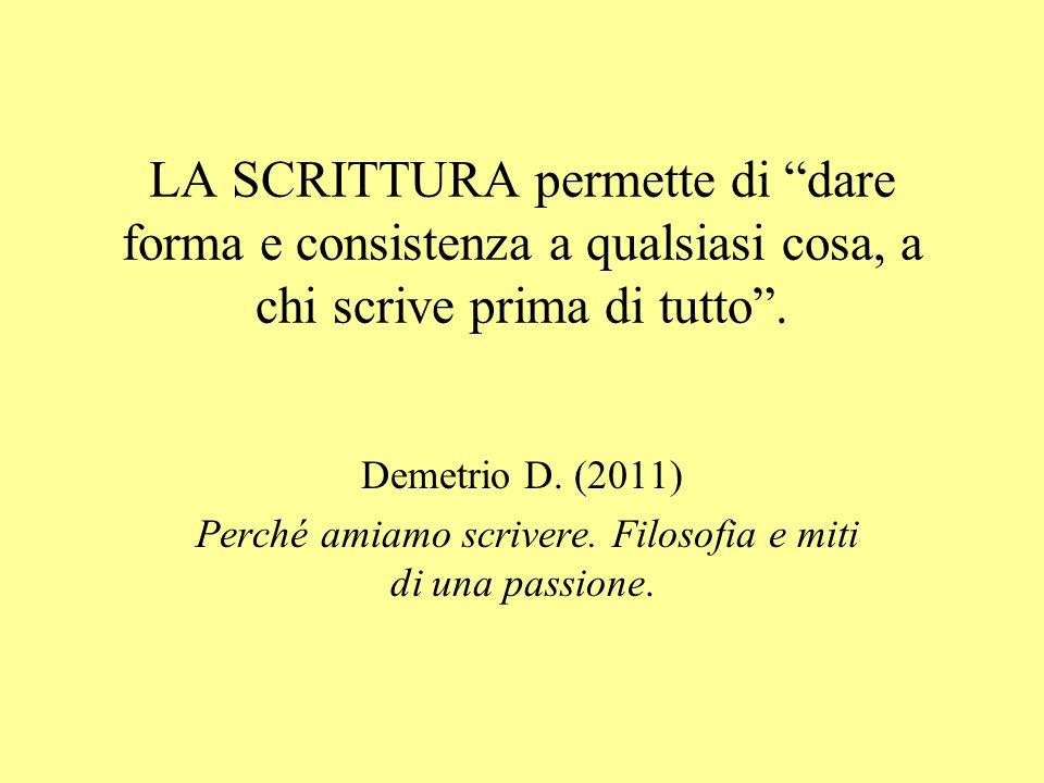 Perché amiamo scrivere. Filosofia e miti di una passione.
