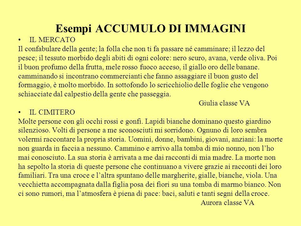 Esempi ACCUMULO DI IMMAGINI