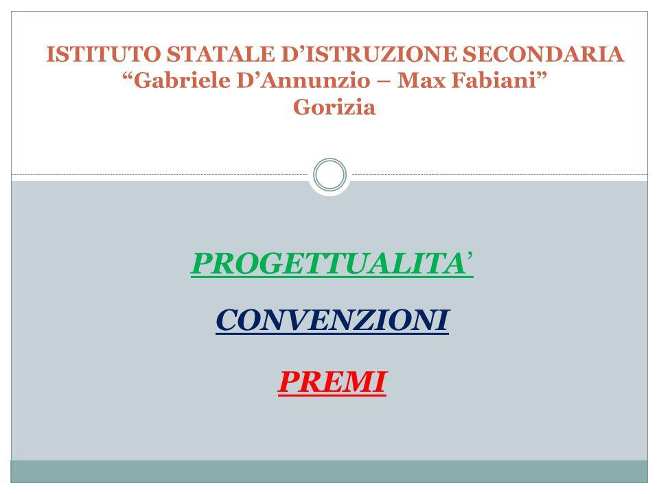 PROGETTUALITA' CONVENZIONI PREMI