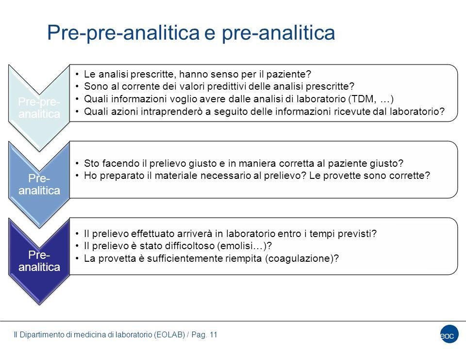 Pre-pre-analitica e pre-analitica