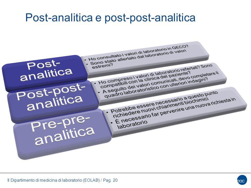 Post-analitica e post-post-analitica
