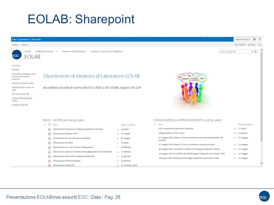 EOLAB: Sharepoint