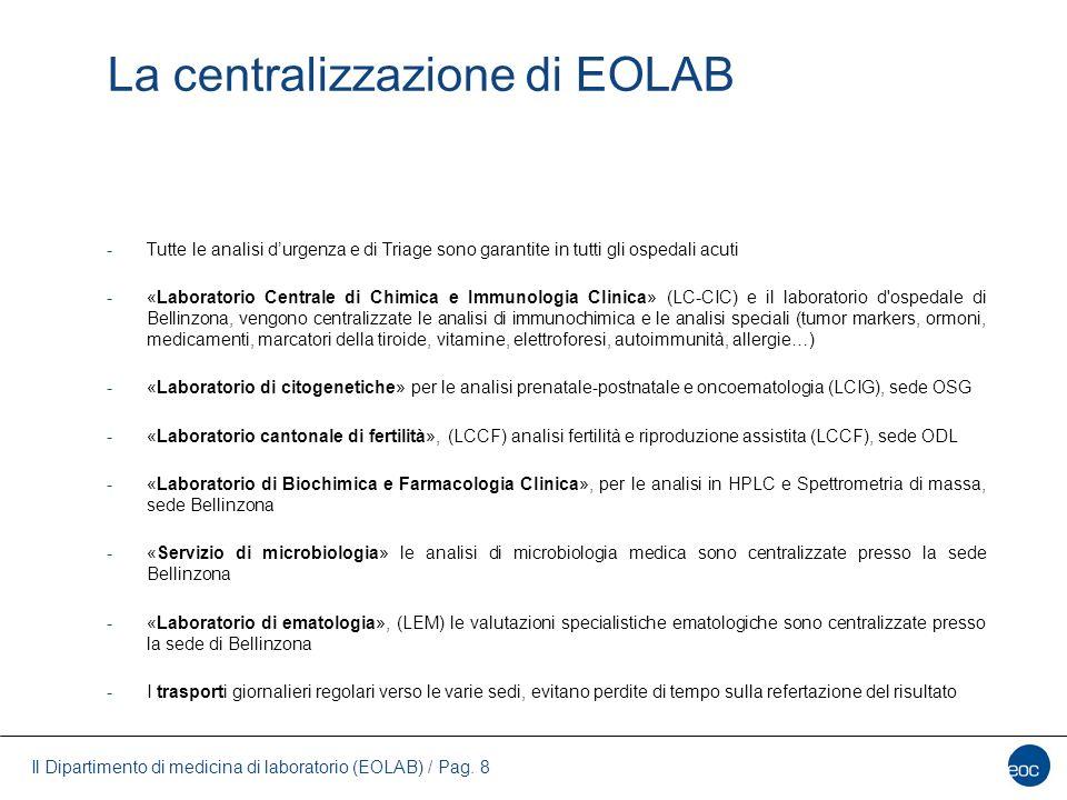 La centralizzazione di EOLAB