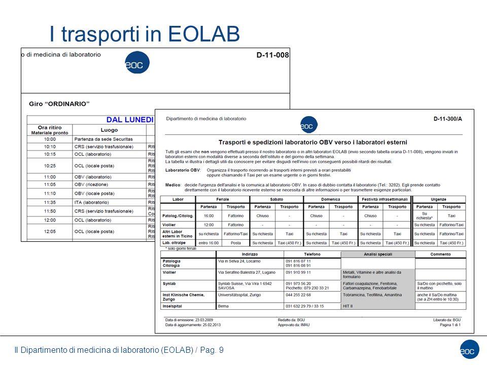 I trasporti in EOLAB