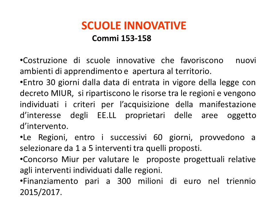 SCUOLE INNOVATIVE C Commi 153-158 153-158