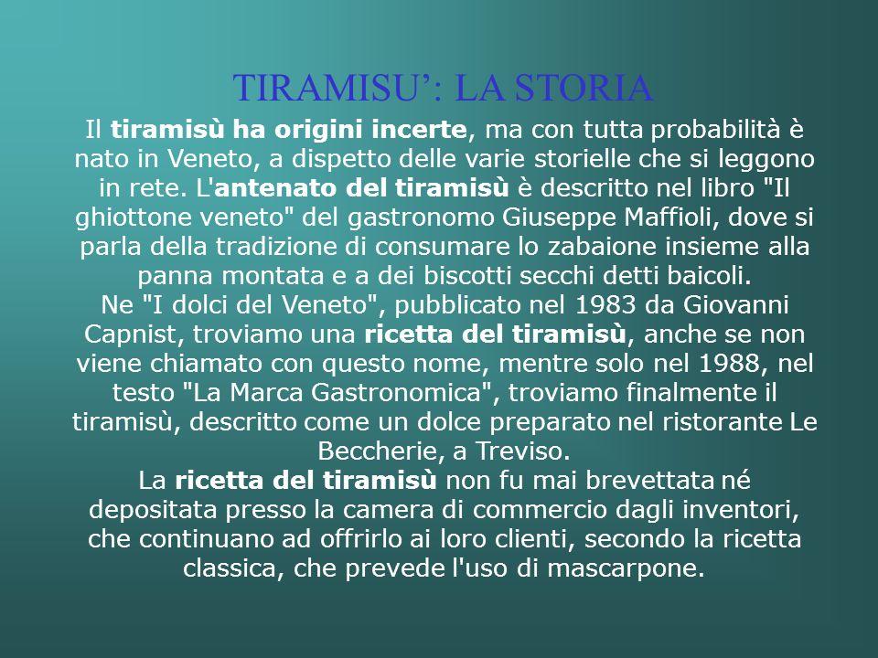 TIRAMISU': LA STORIA