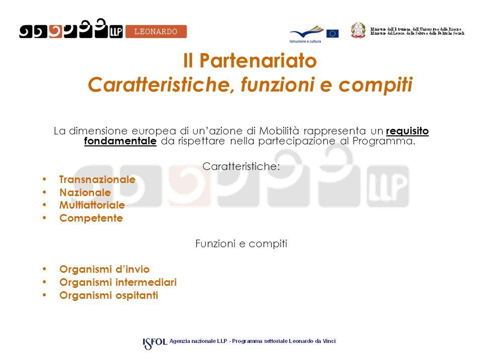 Il Partenariato Caratteristiche, funzioni e compiti