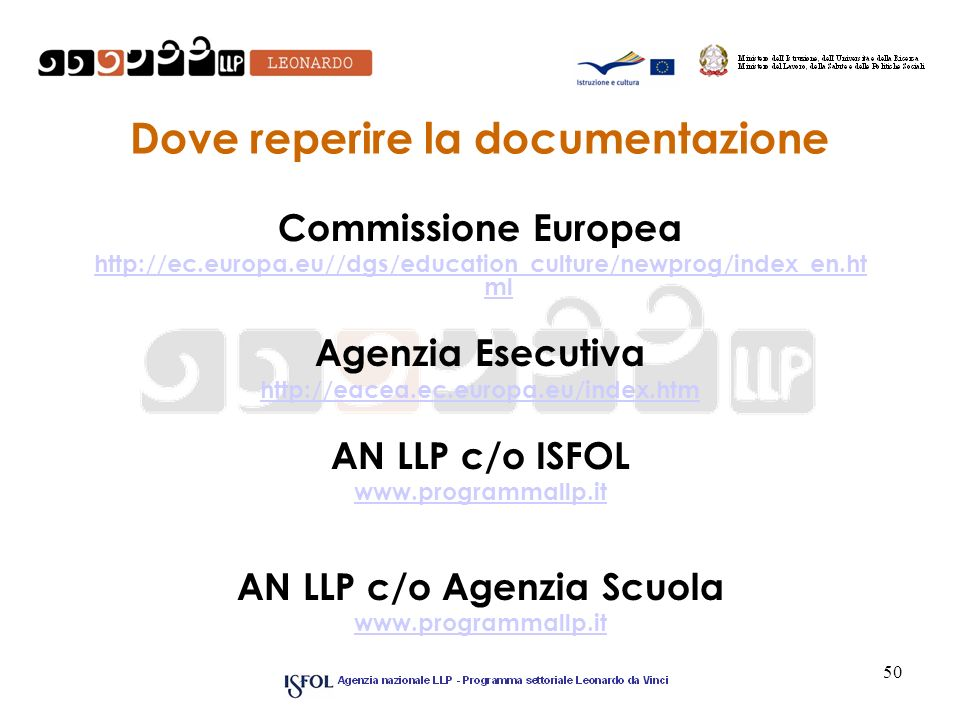 Dove reperire la documentazione
